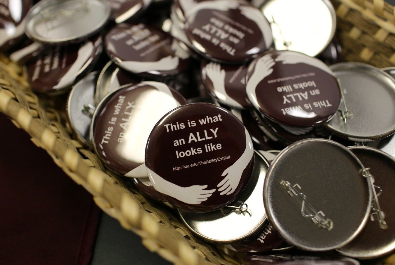 """This is what an ALLY looks like"" pin."
