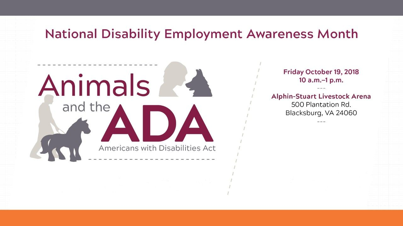 This year's National Disability Employment Awareness Month event, hosted by the Office for Equity and Accessibility, will be held on October 19 from 10 a.m. to 1 p.m. at the Alphin-Stuart Livestock Arena.